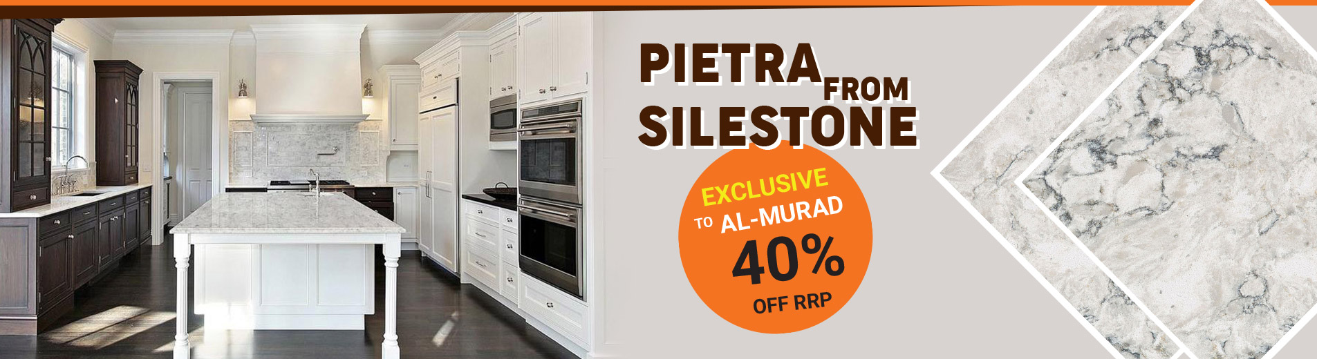 Exclusive to al-murad granite Pietra From Silestone  40% off RRP